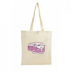 Personalised Pink Camper Van Cotton Bag
