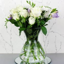 Personalised Sentiments Glass Vase