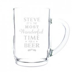 Personalised Wonderful Time For A ... Glass Tankard