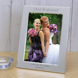 Silver Plated Frame Chief Bridesmaid 7x5