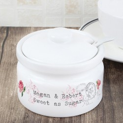 Personalised Vintage Rose Jam/Sugar Pot