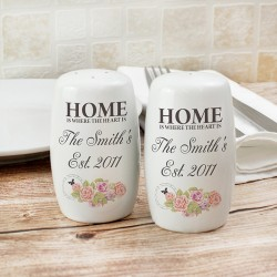 Personalised Shabby Chic Salt and Pepper Set