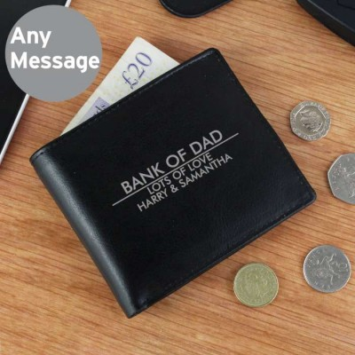 Classic Leather Wallet Personalised