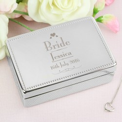 Personalised Decorative Wedding Bride Jewellery Box