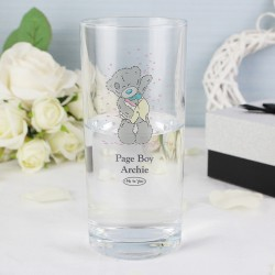 Personalised Me To You Wedding Male Hi Ball Glass
