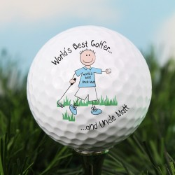 Personalised World's Best Golfer Golf Ball