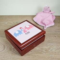 Baby Elephants Keepsake Box