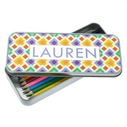 Funky Diamond Pattern Pencil Case
