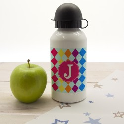 Girls Mosiac Tiled Personalised Water Bottle