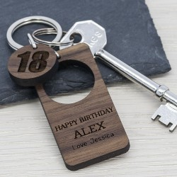 Happy Birthday Keyring