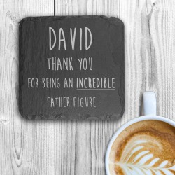 Incredible Father Figure Square Slate Keepsake