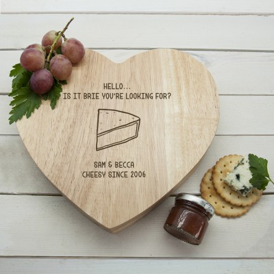 'Is It Brie You're Looking For?' Romantic Heart Cheese Board