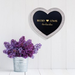 Love Lives Here Heart Chalkboard Sign