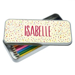 Multi-Coloured Dotty Designed Pencil Case
