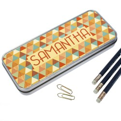 Multi-Coloured Pyramids Pencil Case