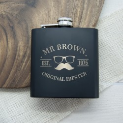 Original Hipster's Black Hip Flask