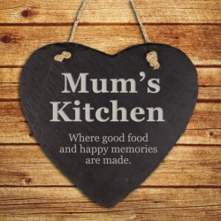 Personalised Kitchen Hanging Slate Keepsake