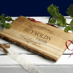 Personalised Vintage Family Rustic Serving Board