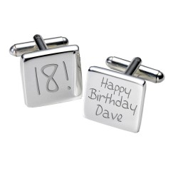18th Birthday Cufflinks