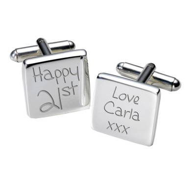 21st Birthday Cufflinks