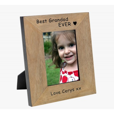 Best Grandad EVER Wood Photo Frame 7x5