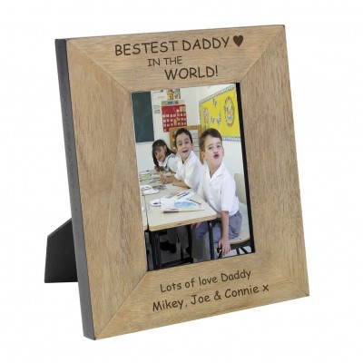 Bestest Daddy in the World Wood Frame 6x4
