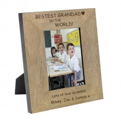 Bestest Grandad in the World Wood Frame 7x5