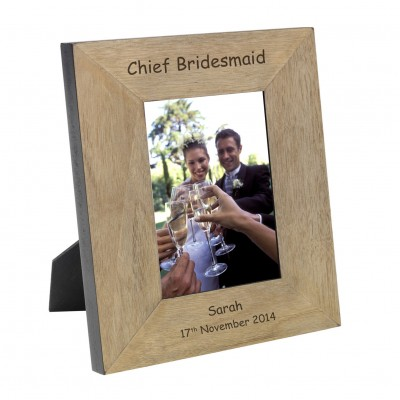 Chief Bridesmaid Wood Photo Frame 7x5
