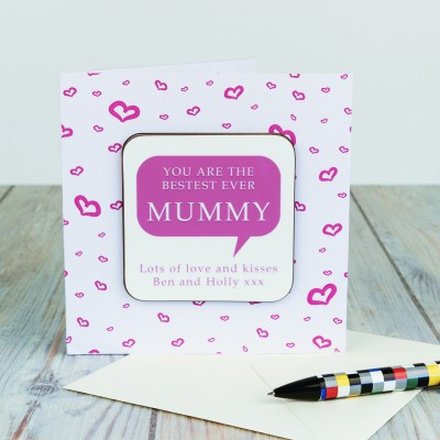 Coaster Card - Bestest Mummy
