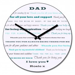Dad Thank You Wall Clock