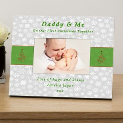 Daddy & Me 1st Xmas together personalised photo frame