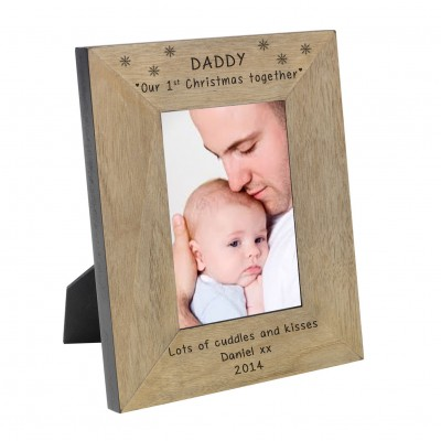 Daddy our 1st Chritmas together Wood Frame 6x4