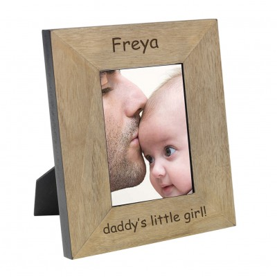 Daddy's Little Girl Wood Frame 7x5
