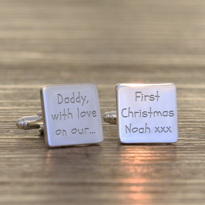 Daddy with love on our Cufflinks