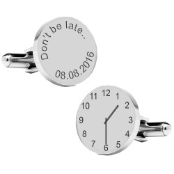 Dont be late..special time cufflinks