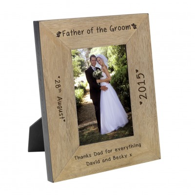 Father of the Groom Wood Frame 6x4
