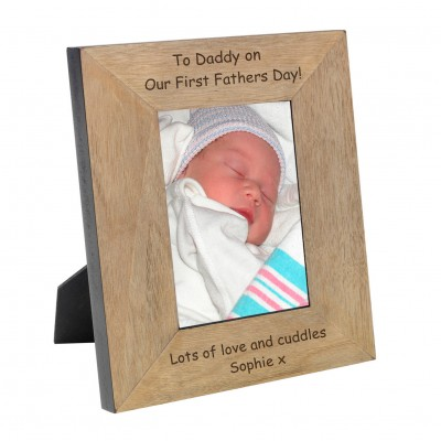 First Fathers Day Wood Frame 6x4