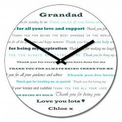 Grandad Thank you Wall Clock