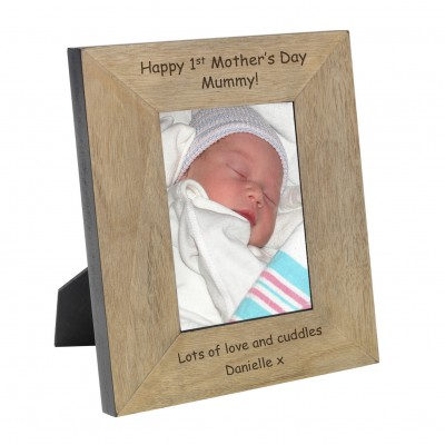 Happy 1st  Mother's Day Mummy! Wood Frame 6x4
