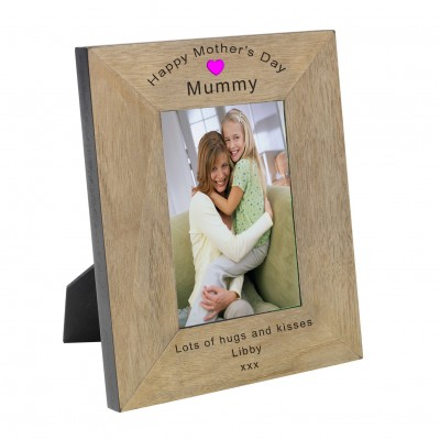 Happy Mother's Day Mummy Wood Frame 6x4