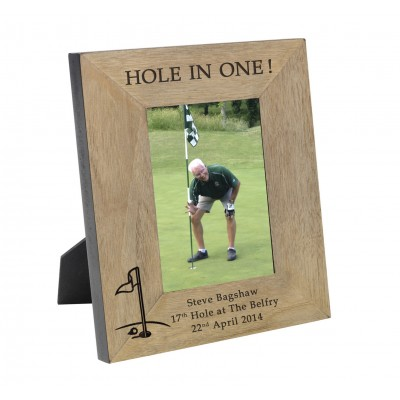 HOLE IN ONE! Wood Frame 6x4
