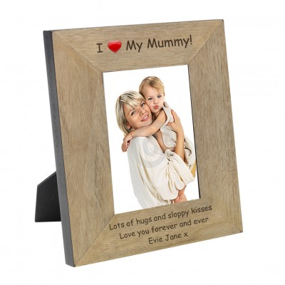 I (Heart) My Mummy Wood Frame 7x5