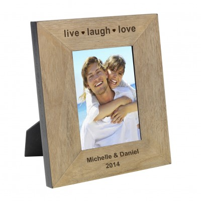 live laugh love Wood Frame 7x5