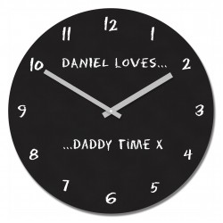 Loves Daddy Time Wall Clock