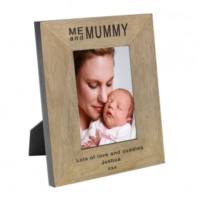 Me and Mummy Wood Frame 7x5