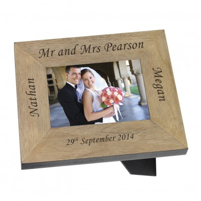 Mr & Mrs Wood Frame 7x5