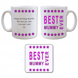 Mug and Coaster Gift Set - Best Mummy