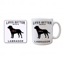 Mug and Coaster Gift Set - Lifes better with a Labrador
