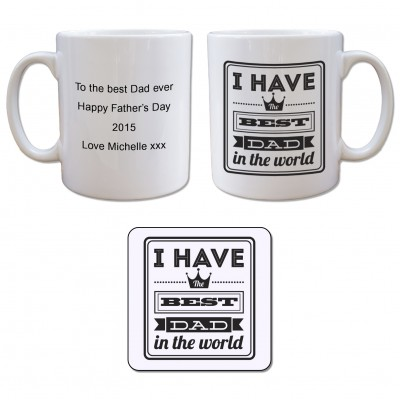 Mug and Coaster Set - Best dad
