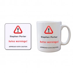 Mug and Coaster Set - Hates Mornings !
